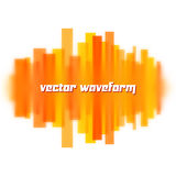 Blurred waveform made of lines Royalty Free Stock Images
