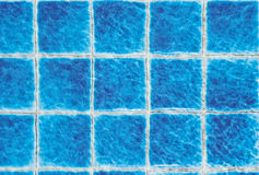 Blurred waves blue tiles Royalty Free Stock Photos