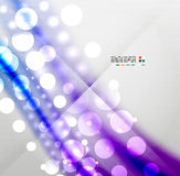 Blurred waves and lights modern background Royalty Free Stock Photos