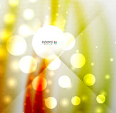 Blurred waves and lights modern background Royalty Free Stock Photography