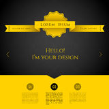 Blurred web design template Royalty Free Stock Photography