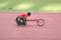 Blurred wheelchair Royalty Free Stock Photos