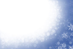 Blurred winter background with snowflakes Royalty Free Stock Images