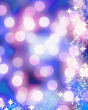 Blurred xmas lights Royalty Free Stock Image