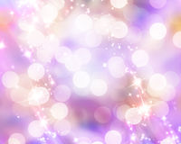 Blurred xmas lights Stock Photography