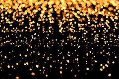 Blurred yellow lights as abstract background Royalty Free Stock Photo