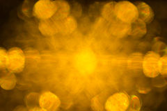 Blurred yellow lights Stock Image