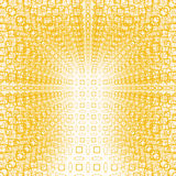 Blurred yellow tunnel pattern Stock Images