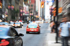 Blurred Yonge street in Toronto Royalty Free Stock Photography