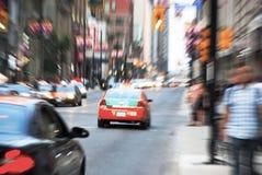 Blurred Yonge street in Toronto. Yonge street traffic in Toronto, Canada Royalty Free Stock Photography