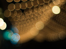BlurredLights. Blurred lights on night time. Background and circle  bokeh for christmas and New year Stock Photo
