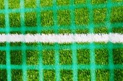 blurried линия белизна футбола поля сетки Стоковое Изображение RF