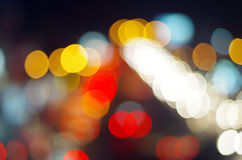 Blurring the image colourful festive lights Royalty Free Stock Photo
