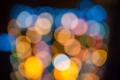 Blurring lights bokeh background Stock Images