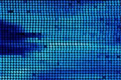 Blurring lights bokeh background of blue circles. Blurring lights bokeh background of circles vector illustration