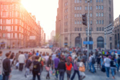 Blurring the streets of the city Stock Images