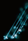 Blurry abstract blue light effect background vector illustration