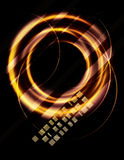 Blurry abstract gold light effect background Stock Photography