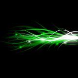 Blurry abstract green light effect sparkle background Royalty Free Stock Photography