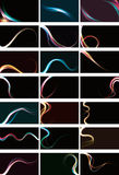 Blurry abstract light effect backgrounds. Blurry abstract light effect background collection Stock Photos