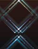 Blurry abstract light effect triangle Royalty Free Stock Photo