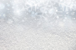 Blurry abstract snow background Stock Photography