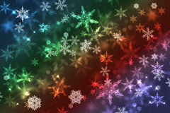 Blurry abstract snowflake Christmas illustration background. Royalty Free Stock Photography