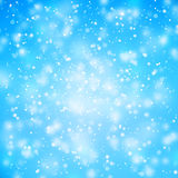 Blurry abstract snowflake illuastration background Royalty Free Stock Photo