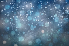 Blurry abstract snowflake illustration background Stock Photo