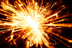 Blurry, abstract style decorative sparkles. From a sparkler candle Stock Images