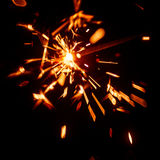 Blurry, abstract style decorative sparkles. From a sparkler candle Stock Photos