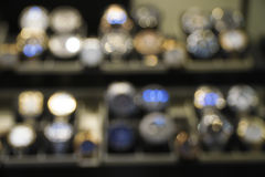 Blurry Abstract View Of Some Watches Stock Photography