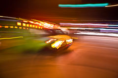 Blurry American Ambulance In A Rush Royalty Free Stock Images