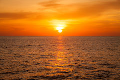Blurry background beautiful sunset above sea Stock Images
