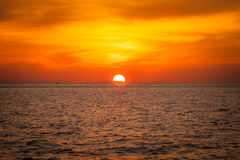 Blurry background beautiful sunset above sea Stock Photos