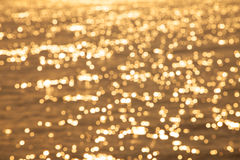 Blurry background of bokeh on water sea Stock Image