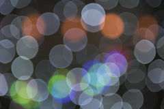 Blurry background circles - christmas lights background Royalty Free Stock Photo