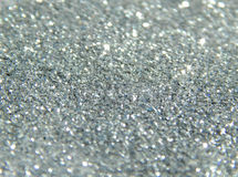 Blurry background of silver glitter sparkle Royalty Free Stock Image