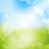 Blurry background spring , blue sky with glaring sun. Blurry background spring or summer, blue sky with glaring sun stock illustration