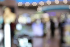 Blurry background of the stores. Blurry background of the stores in the mall Royalty Free Stock Photography