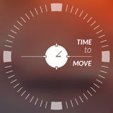 Blurry Background With Index Dial. Stock Image