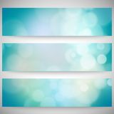 Blurry backgrounds set with bokeh effect. Abstract
