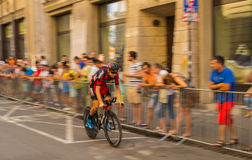 Blurry Bicycles. Blury Bicykles, Tour de Pologne. Cracov August 09, 2014 Royalty Free Stock Images