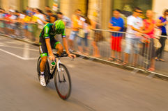 Blurry Bicycles. Blury Bicykles, Tour de Pologne. Cracov August 09, 2014 Royalty Free Stock Photo