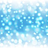 Blurry Blue Christmas Background. Blurry christmas background with bokeh effect Royalty Free Stock Image
