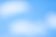 Blurry blue sky Stock Photography