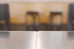 Blurry bright restaurant interior table top Stock Images