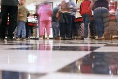 A blurry cafeteria line Royalty Free Stock Photo