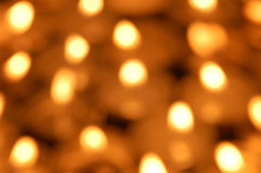 Blurry candlelights Stock Photography