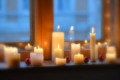 Blurry Candles light Stock Images